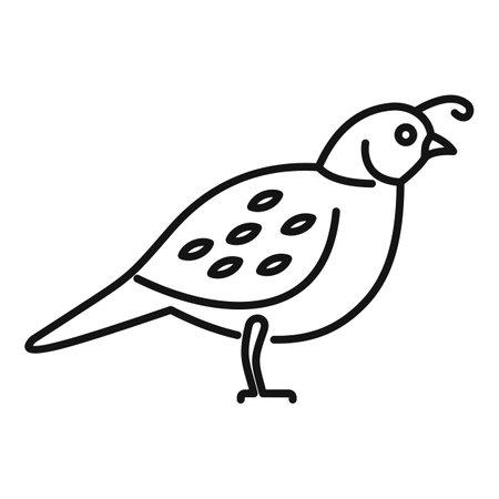 Quail farm icon, outline style Ilustracje wektorowe