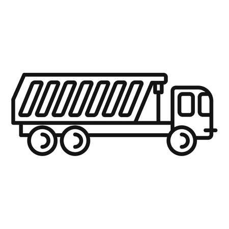 Tipper auto icon, outline style