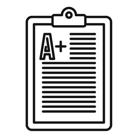 Foreign language positive test icon, outline style Vettoriali