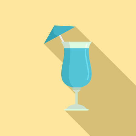 Bar cocktail icon, flat style