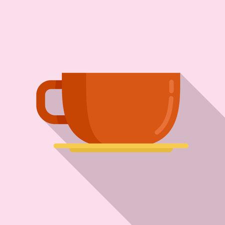 Coffee cup icon, flat style Иллюстрация