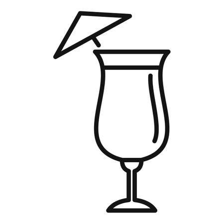 Bar cocktail icon, outline style