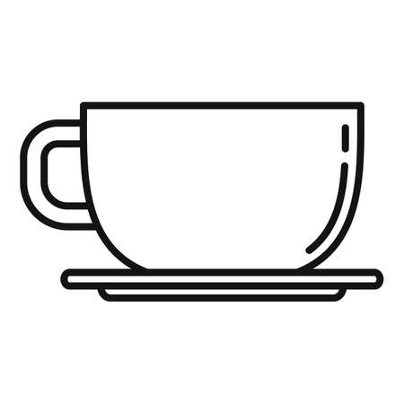 Coffee cup icon, outline style Иллюстрация