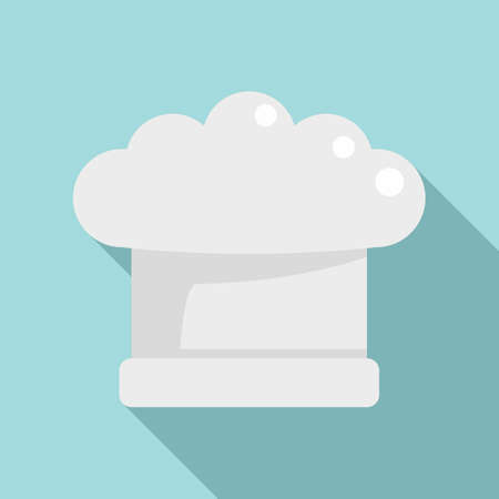Cook hat icon, flat style
