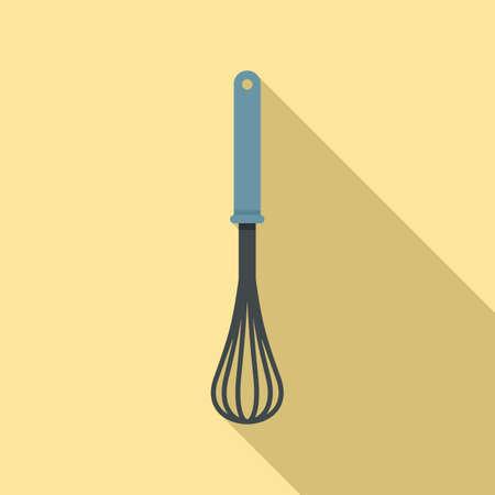 Handle mixer icon, flat style 矢量图像