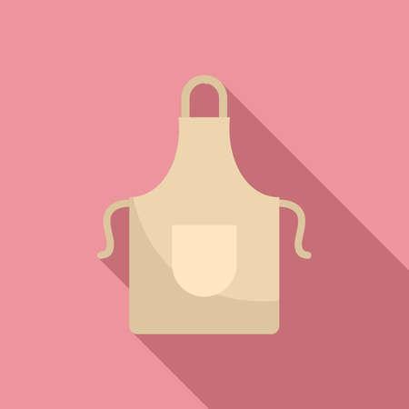 Kitchen apron icon, flat style 矢量图像