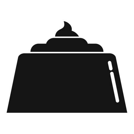 Chocolate cake icon, simple style 矢量图像