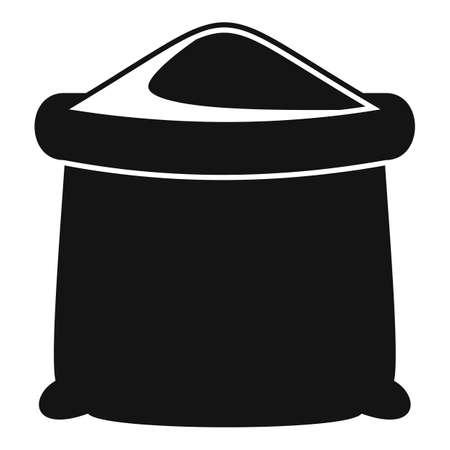 Flour sack icon, simple style