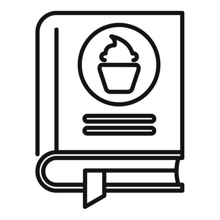 Confectionery book icon, outline style