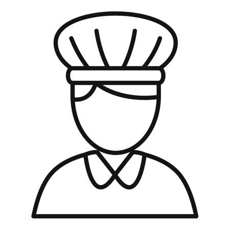 Confectioner woman icon, outline style 矢量图像