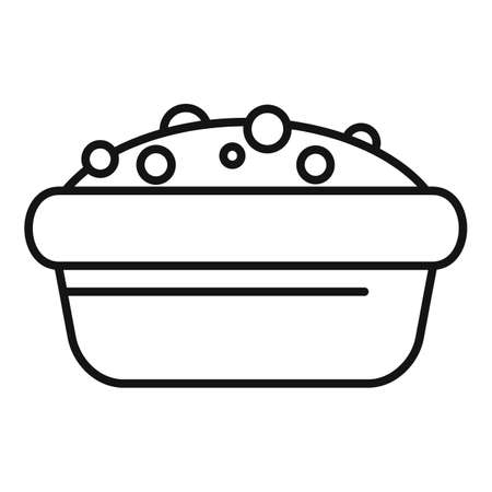 Apple cake icon, outline style