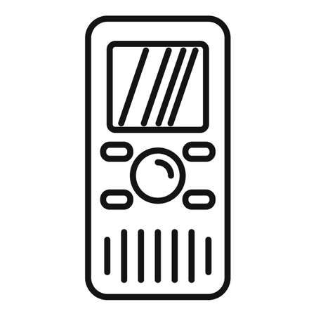 Dictaphone translator icon, outline style 矢量图像
