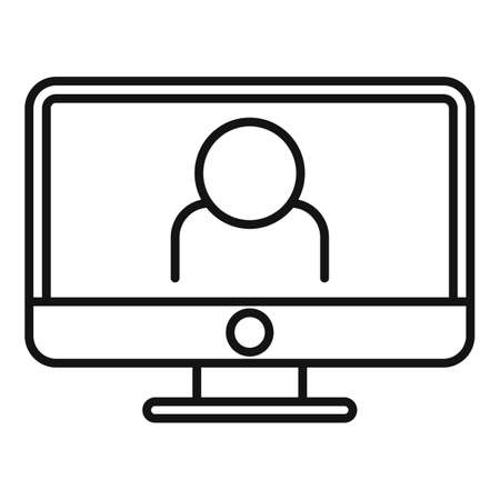 Announcer online icon, outline style