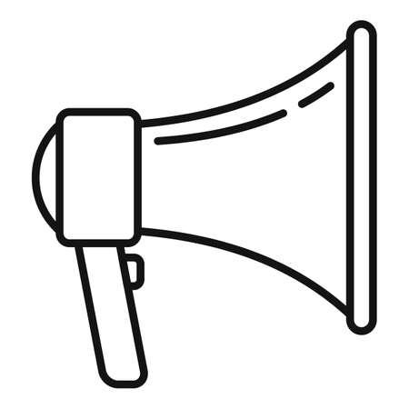 Studio megaphone icon, outline style