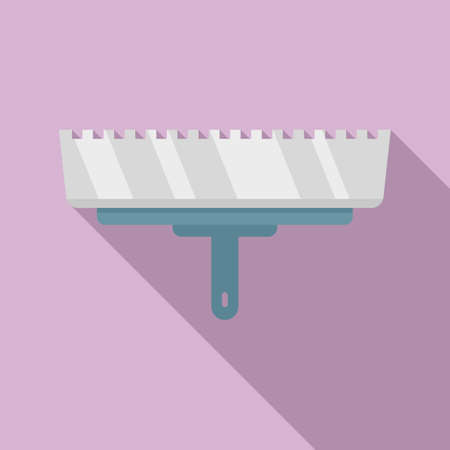 Putty knife dirty icon, flat style
