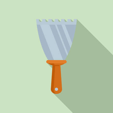 Putty knife drywall icon, flat style