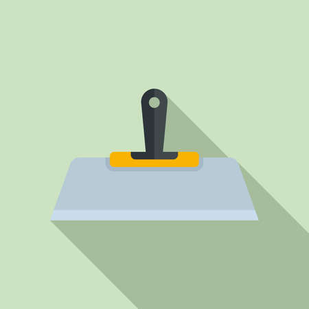 Putty knife paint icon, flat style