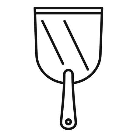 Putty knife spatula icon, outline style