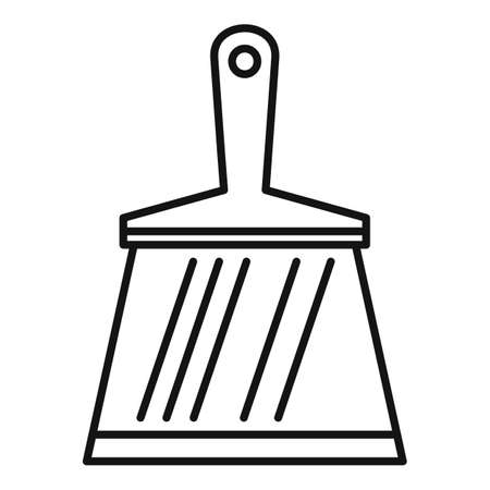 Putty knife construction icon, outline style