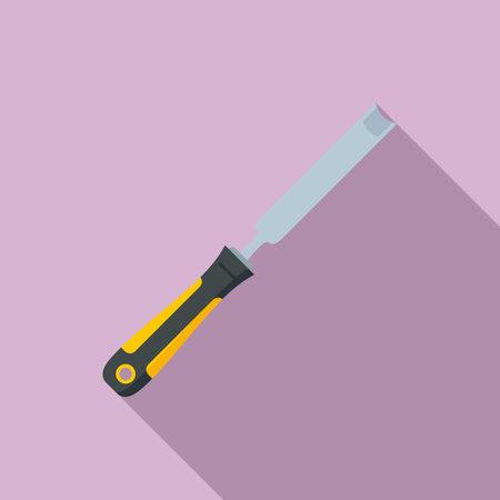 Chisel equipment icon, flat style 矢量图像