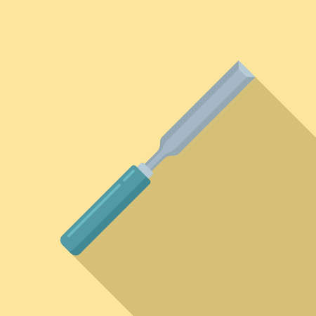 Chisel repair icon, flat style