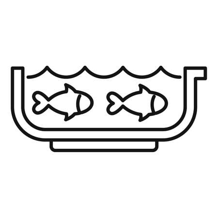 Ichthyology aquarium icon, outline style