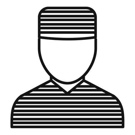 Prison man icon, outline style