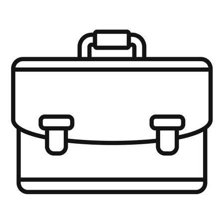 Notary briefcase icon, outline style Vektorové ilustrace