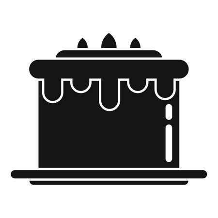 Sweet cake icon, simple style