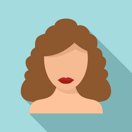 Face laser hair removal icon, flat style