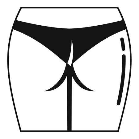 Leg laser hair removal icon, simple style
