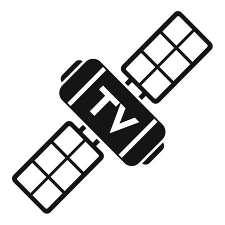 Tv satellite icon, simple style