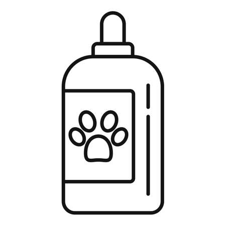 Cream dog bottle icon, outline style Иллюстрация