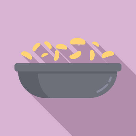 Breakfast cereal flakes icon, flat style