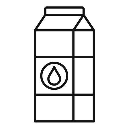 Milk pack icon, outline style