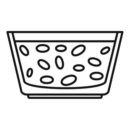 Morning food cereal flakes icon, outline style