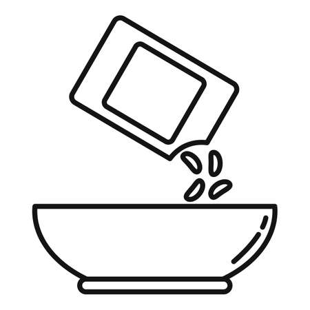 Grain cereal flakes icon, outline style