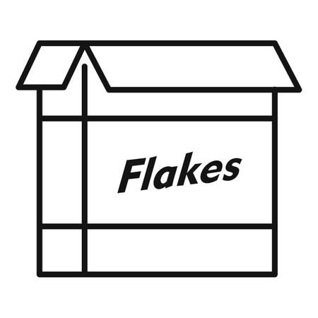 Cereal flakes package icon, outline style
