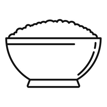 Cereal flakes snack icon, outline style
