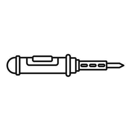 Soldering craft icon, outline style