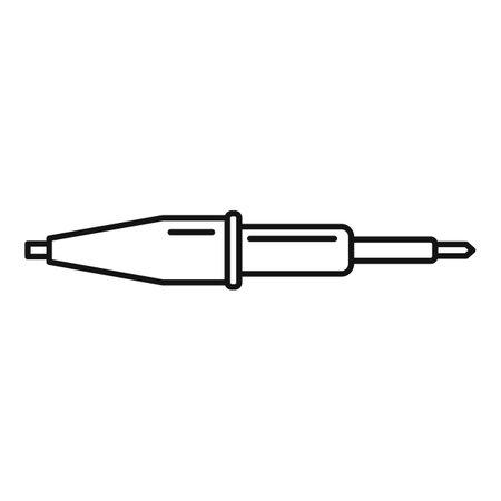 Soldering lab icon, outline style Illusztráció