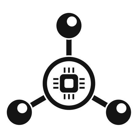 Nanotechnology molecule icon, simple style Vecteurs