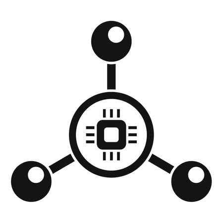 Nanotechnology molecule icon, simple style