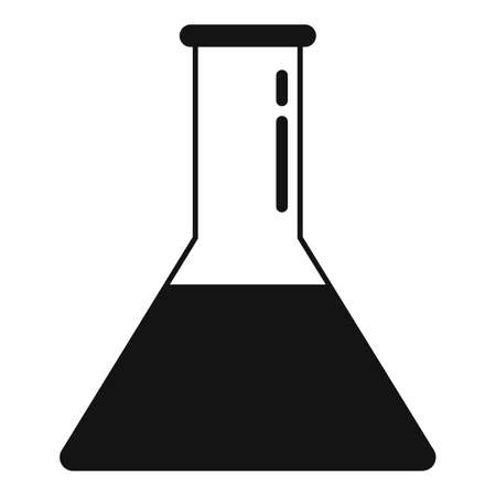 Nanotechnology full flask icon, simple style
