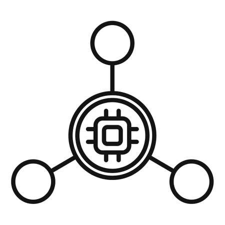 Nanotechnology molecule icon, outline style