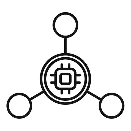 Nanotechnology molecule icon, outline style