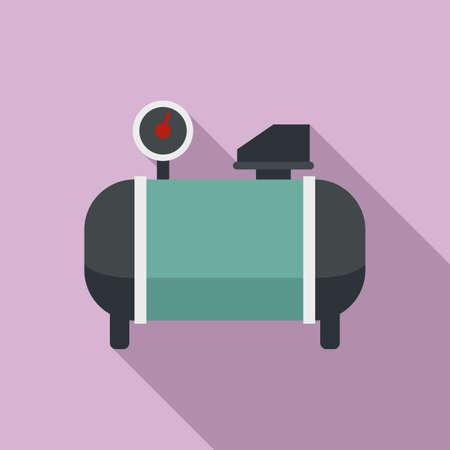 Generator air compressor icon, flat style