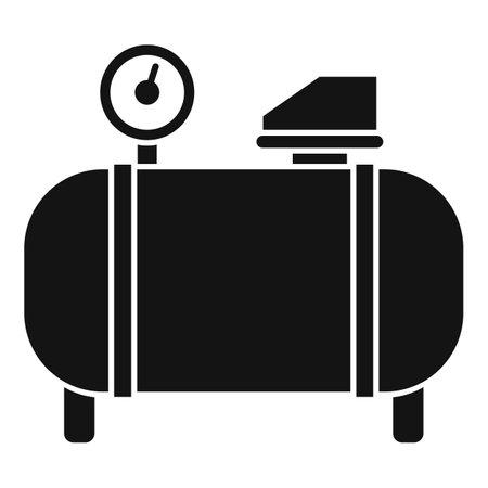Generator air compressor icon, simple style