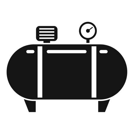 Instrument air compressor icon, simple style