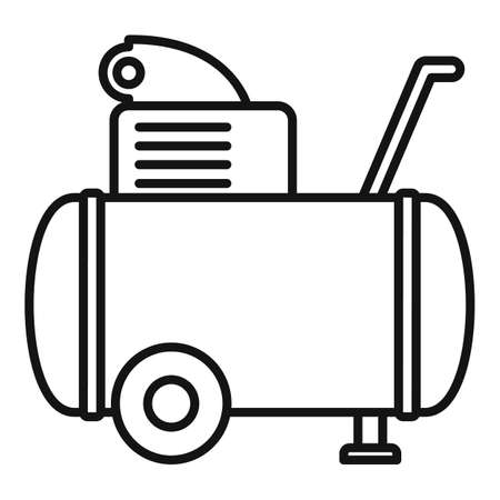 Machine air compressor icon, outline style 向量圖像